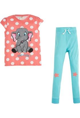 Soobe Kısa Kol Pijama Takımı Pembe 7 Yaş