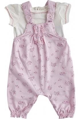 Soobe Picnic Blossom Kısa Kol T-Shirt Ve Salopet Set Pembe 3 - 6 Ay