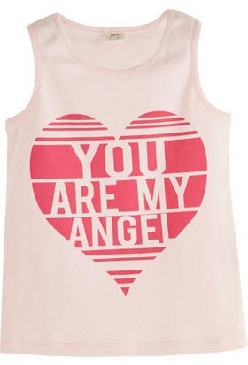Soobe Pop Girls Kalp Kolsuz T-Shirt Pink Lady 6 Yaş