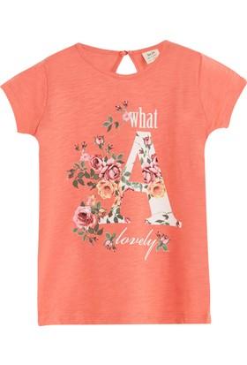 Soobe Pop Girls A Harfli Kısa Kol T-Shirt Porselen Rose 3 Yaş