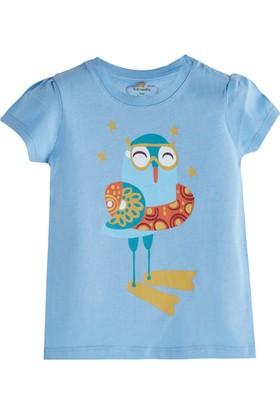 Soobe Pop Girls Denizci Kuş Kısa Kol T-Shirt Violet 3 - 6 Ay