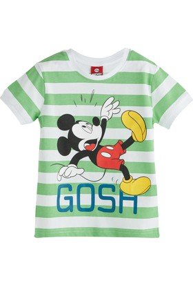 Soobe Lisanslı Disney Mickey Mouse Kısa Kol T-Shirt Yeşil 7 Yaş