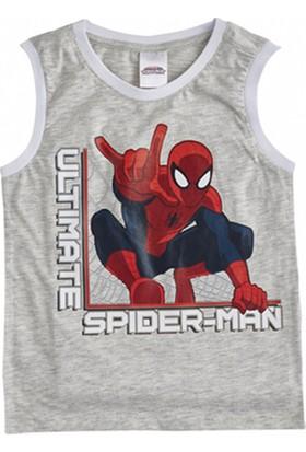 Soobe Lisanslı Ultimate Spider-Man Kolsuz T-Shirt Açık Gri Melanj 8 Yaş
