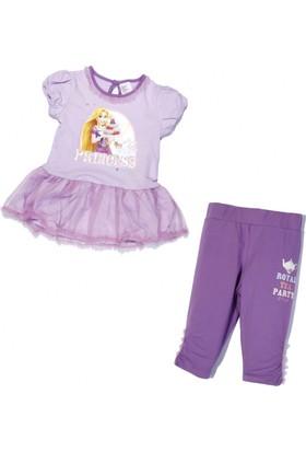 Soobe Lisanslı Disney Princess-2 Elbise Ve Tayt Set Açık Lila