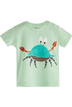 Soobe Pop Boys Yengeç Kısa Kol T-Shirt Açık Yeşil 0 - 3 Ay