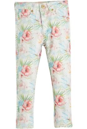 Soobe Pop Girls Çiçekli Pantolon Baskılı 9 Yaş