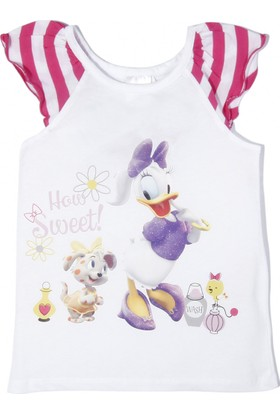 Soobe Disney Minnie Pet Salon Kolsuz T-Shirt White
