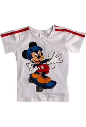 Soobe Lisanslı Disney Mickey Mouse T-Shirt Kısa Kol Beyaz 5 Yaş
