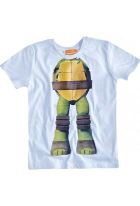 Soobe Lisanslı Ninja Turtle Kısa Kol T-Shirt Keskin Sarı 2 Yaş