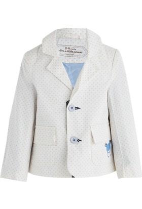 Soobe Bayram-2 Kurbağa Detaylı Ceket Beyaz 3 Yaş