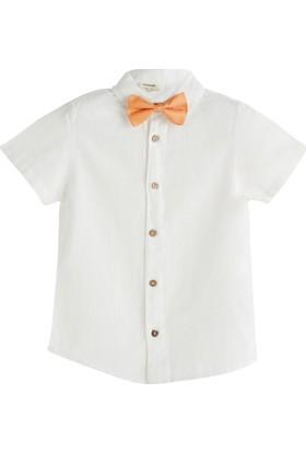 Soobe Italian Style Papyonlu Kısa Kol T-Shirt Beyaz 7 Yaş