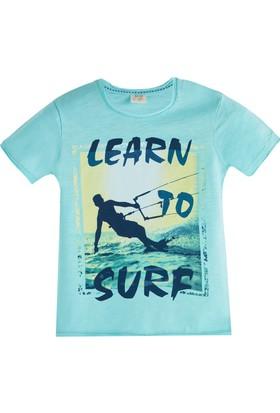 Soobe Pop Boys Surf Kısa Kol T-Shirt Cam Göbeği 3 Yaş