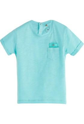 Soobe Pop Boys Cep Detaylı Kısa Kol T-Shirt Cam Göbeği 0 - 3 Ay