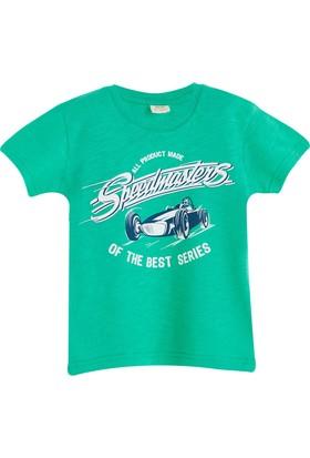 Soobe Pop Boys Yarış Arabası Kısa Kol T-Shirt Çimen 9 Yaş