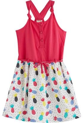 Soobe Pineapple Party Kolsuz Elbise 3 Yaş