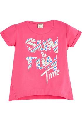 Soobe Geometric Sunshine Kısa Kol T-Shirt Fuşya 9 Yaş
