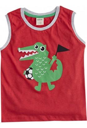 Soobe Monster Kolsuz T-Shirt Kırmızı 4 Yaş