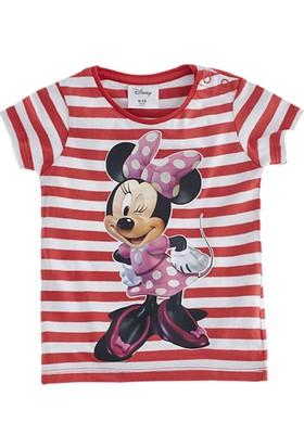 Soobe Lisanslı Disney Minnie Mouse Kısa Kol T-Shirt Kırmızı 6 Yaş