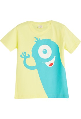 Soobe Pop Boys Canavar Kısa Kol T-Shirt 11 Yaş