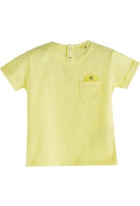 Soobe Pop Boys Cep Detaylı Kısa Kol T-Shirt Limon Sarısı 0 - 3 Ay