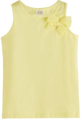 Soobe Pop Boys Fiyonklu Kolsuz T-Shirt Limon Sarısı 3 Yaş
