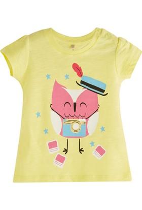 Soobe Pop Girls Sihirbaz Kedi Kısa Kol T-Shirt Limon Sarısı 0 - 3 Ay