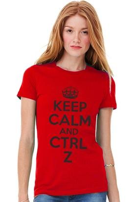 Tshirthane Keep Calm Ctrl+Z Kırmızı Tshirt