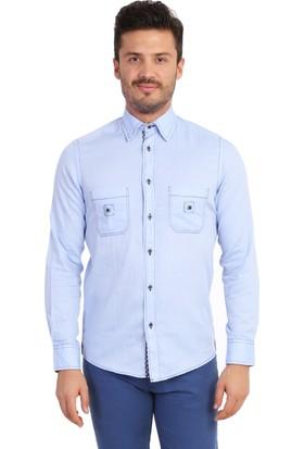 Kiğılı Uzun Kol Tasarım Slimfit Gömlek