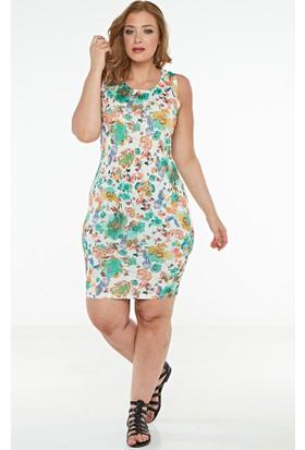 So Sugar Mini Kolsuz Çiçekli Elbise