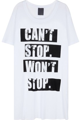 Lot 78 Can't Stop' Bisiklet Yaka T-Shirt