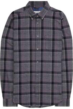 Ben Sherman LS Wool Check Gri Kareli Gömlek