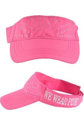 Bonalodi Pembe We Wear Pink Taşlı Kep Şapka
