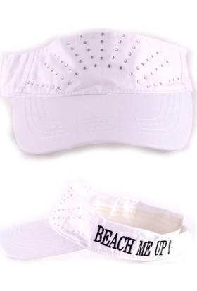 Bonalodi Beyaz Beach Me Up! Taşlı Kep Şapka