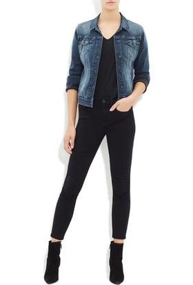 Mavi Kadın Daisy Puslu Retro Jean Ceket