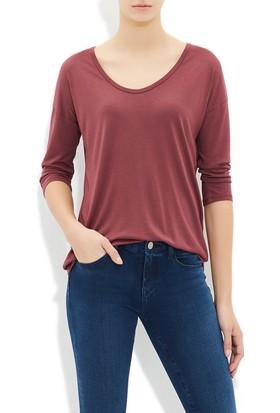 Mavi Kadın Bordo Uzun Kol T-Shirt