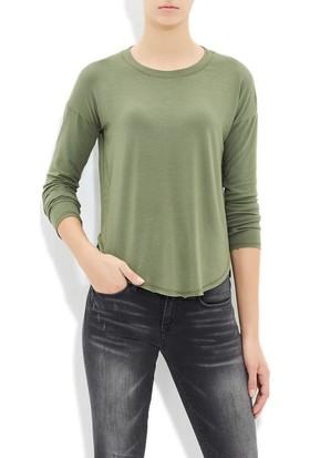 Mavi Kadın Haki Uzun Kol T-Shirt