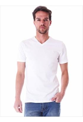 Ayyıldız 59483 V Yaka Erkek T-Shirt Beyaz