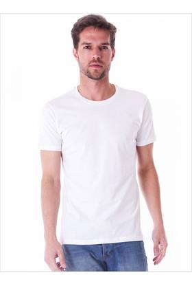 Ayyıldız 59482 Bisiklet Yaka Erkek Tişört Beyaz