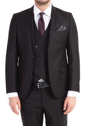 Kiğılı Süper Slimfit Yelekli Takım Elbise