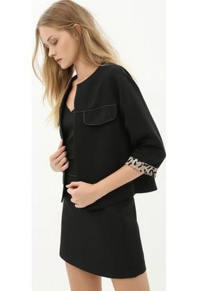 Koton Kadın Cep Detaylı Ceket Siyah