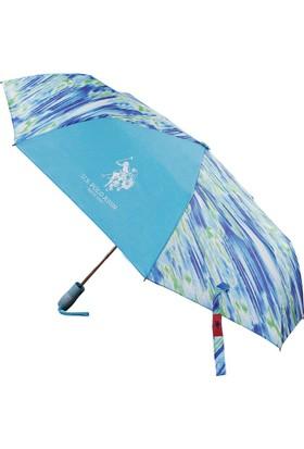 U.S Polo Assn. Mavi Desenli Şemsiye Plşem6603