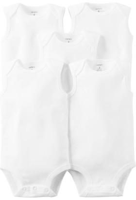 Carter's Layette Bebek 5'Li Beyaz Kolsuz Body 126G386