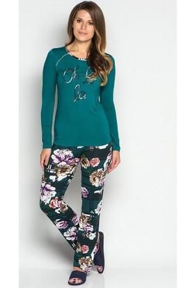 Catherine's 413 Viskon Kadın Pijama Takımı