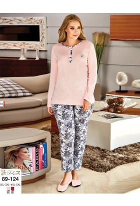 Flz Bayan Büyük Beden Battal Pijama Takım 89-124