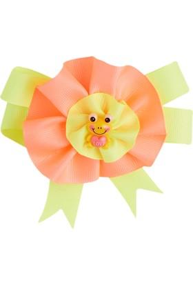 Soobe Figürlü Çiçek Klıpsli Toka Mercan