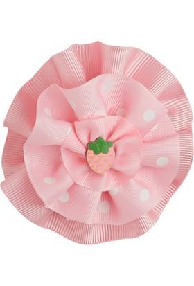 Soobe Figürlü Çiçek Klıpsli Toka Açık Pembe