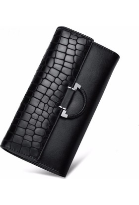 Casuha Designer Genuine Leather Long Hasp Woman Wallet