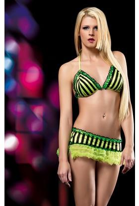 Cix Moda Erotica Neon Fantezi Etek Kostümü