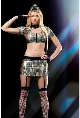 Cix Moda Erotica Seksi Amerikalı Asker Kostümü