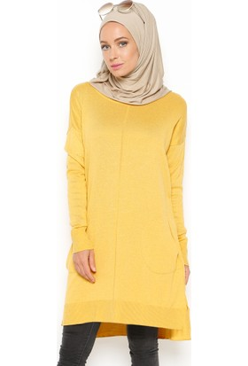 Triko Tunik - Hardal - Seyhan Fashion